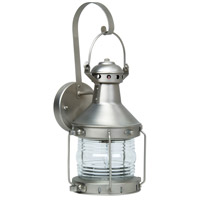 Craftmade Z114-BN Nautical 1 Light 18 inch Brushed Satin Nickel Outdoor Wall Lantern, Large