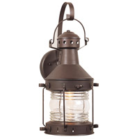 Craftmade Z114-BC Nautical 1 Light 18 inch Burnished Copper Outdoor Wall Lantern, Large
