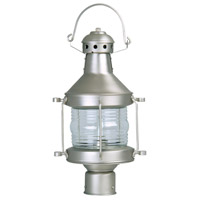 Craftmade Z115-BN Nautical 1 Light 17 inch Brushed Satin Nickel Outdoor Post Lantern, Large