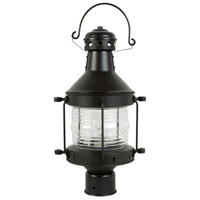 Nautical 1 Light 17 inch Burnished Copper Outdoor Post Lantern, Large