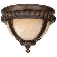 Prescott 1 Light 14 inch Peruvian Bronze Outdoor Flushmount, Medium