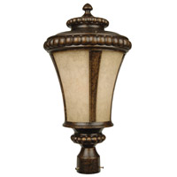 Exteriors by Craftmade Prescott 1 Light Post Mount in Peruvian Bronze Z1225-112