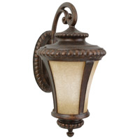 Prescott 3 Light 32 inch Peruvian Bronze Outdoor Wall Mount in Antique Scavo Glass