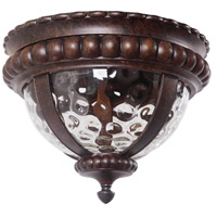 Exteriors by Craftmade Prescott II 2 Light Outdoor Flushmount in Peruvian Bronze Z1267-112