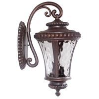 Exteriors by Craftmade Prescott II 3 Light Outdoor Wall Mount in Peruvian Bronze Z1274-112