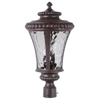 Exteriors by Craftmade Prescott II 3 Light Post Mount in Peruvian Bronze Z1275-112