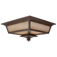 Argent 2 Light 14 inch Aged Bronze Outdoor Flushmount in Champagne Frost