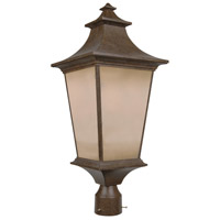 Exteriors by Craftmade Argent 1 Light Post Mount in Aged Bronze Z1325-98