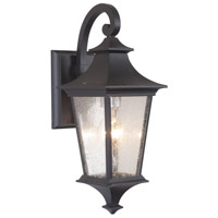Craftmade Z1354-MN Argent II 1 Light 16 inch Midnight Outdoor Wall Lantern, Small