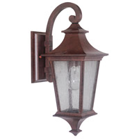 Argent II 1 Light 16 inch Aged Bronze Textured Outdoor Wall Lantern, Small