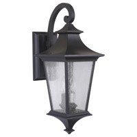 Exteriors by Craftmade Argent II 2 Light Outdoor Wall Mount in Midnight Z1364-11