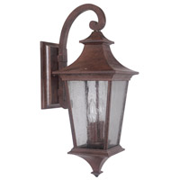 Argent II 2 Light 21 inch Aged Bronze Textured Outdoor Wall Lantern, Medium