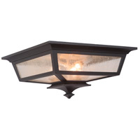 Argent II 3 Light 14 inch Midnight Outdoor Flushmount