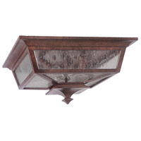Argent II 3 Light 14 inch Aged Bronze Outdoor Flushmount