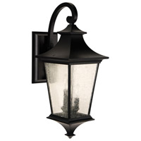 Craftmade Z1374-MN Argent II 3 Light 26 inch Midnight Outdoor Wall Lantern, Large