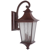 Argent II 3 Light 26 inch Aged Bronze Textured Outdoor Wall Lantern, Large