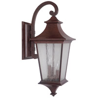 Craftmade Z1374-AG Argent II 3 Light 26 inch Aged Bronze Textured Outdoor Wall Mount, Large