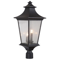 Craftmade Z1375-MN Argent II 3 Light 25 inch Midnight Outdoor Post Light, Large