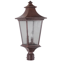 Exteriors by Craftmade Argent II 3 Light Post Mount in Aged Bronze Z1375-98
