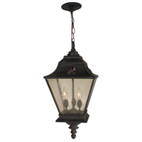 Chaparral 3 Light 12 inch Rust Outdoor Pendant in Champagne Seeded