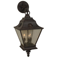 Chaparral 3 Light 28 inch Rust Outdoor Wall Mount in Champagne Seeded