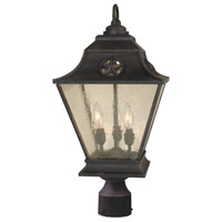 Chaparral 3 Light 24 inch Rust Outdoor Post Light, Medium