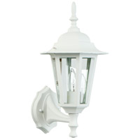 Craftmade Z150-TW Straight Glass 1 Light 16 inch Textured Matte White Outdoor Wall Lantern, Medium