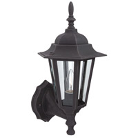 Exteriors by Craftmade Straight Glass 1 Light Outdoor Wall Mount in Rust Z150-07