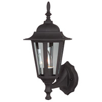 Craftmade Z150-TB Straight Glass 1 Light 16 inch Textured Matte Black Outdoor Wall Lantern, Small