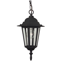 Straight Glass 1 Light 8 inch Matte Black Outdoor Pendant
