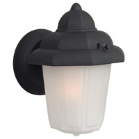 Contractors 1 Light 9 inch Matte Black Outdoor Wall Mount