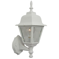 Craftmade Z170-TW Coach Lights 1 Light 15 inch Textured Matte White Outdoor Wall Lantern, Small