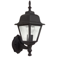 Craftmade Z170-TB Coach Lights 1 Light 15 inch Textured Matte Black Outdoor Wall Lantern, Small