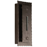 Exteriors by Craftmade Bristol 1 Light Outdoor Wall Sconce in Aged Iron Z1732-15-LED