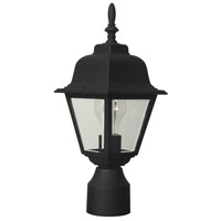 Exteriors by Craftmade Coach Light 1 Light Post Mount in Matte Black Z175-05