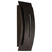 Crescent LED 15 inch Aged Iron Outdoor Wall Sconce