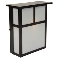 Craftmade Z1840-BC Mission 1 Light 10 inch Burnished Copper Outdoor Wall Lantern in Frosted Medium