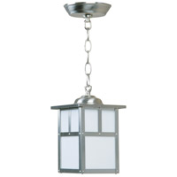 Craftmade Z1841-SS Mission 1 Light 6 inch Stainless Steel Outdoor Pendant in Frosted, Small