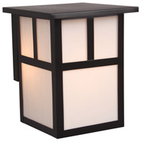 Craftmade Z1842-BC Mission 1 Light 8 inch Burnished Copper Outdoor Wall Lantern in Frosted, Small