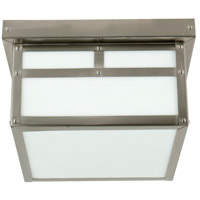 Craftmade Z1843-SS Mission 1 Light 10 inch Stainless Steel Outdoor Flushmount in Frosted Small