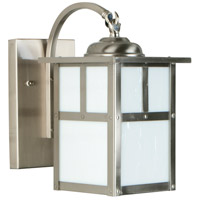 Craftmade Z1844-SS Mission 1 Light 10 inch Stainless Steel Outdoor Wall Lantern in Frosted, Small