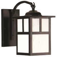 Craftmade Z1844-BC Mission 1 Light 10 inch Burnished Copper Outdoor Wall Lantern in Frosted Small