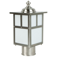 Craftmade Z1845-SS Mission 1 Light 12 inch Stainless Steel Outdoor Post Light in Frosted Small