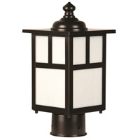 Craftmade Z1845-BC Mission 1 Light 12 inch Burnished Copper Outdoor Post Light in Frosted Small