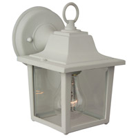 Exteriors by Craftmade Coach Light 1 Light Outdoor Wall Mount in Matte White Z190-04