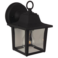 Craftmade Z190-TB Coach Lights 1 Light 8 inch Brushed Aluminum Outdoor Wall Mount in Textured Matte Black Small