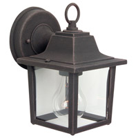 Coach Lights 1 Light 8 inch Rust Outdoor Wall Lantern, Small