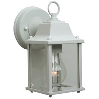 Craftmade Z192-TW Coach Lights 1 Light 9 inch Textured Matte White Outdoor Wall Lantern in Incandescent, Small