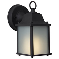 Exteriors by Craftmade Coach Lights 1 Light Outdoor Wall Mount in Matte Black Z192-05-NRG