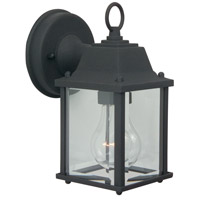 Craftmade Z192-TB Coach Lights 1 Light 9 inch Textured Matte Black Outdoor Wall Lantern in Incandescent Small